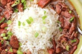 A large bowl of Red Beans and Rice