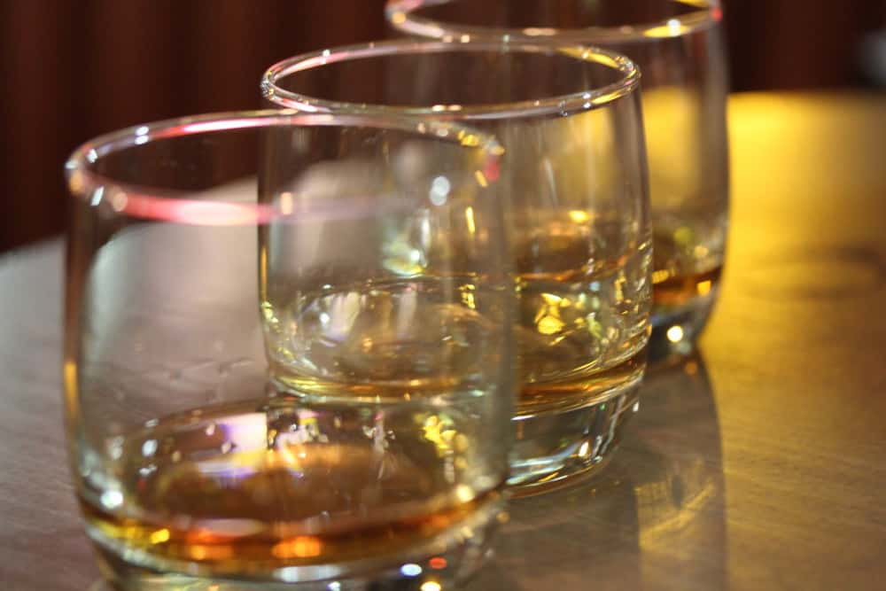B&B's Famous Bourbon and Whiskey Flight - a great start!