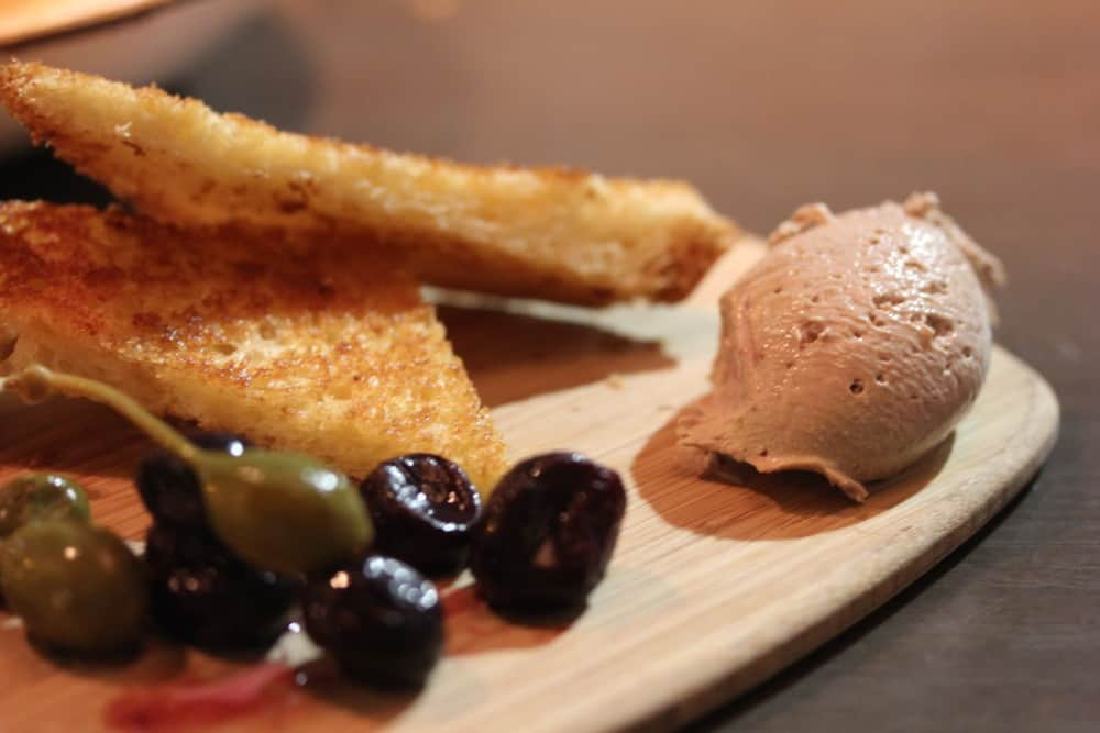 Foie Gras Chicken Liver Pate with Boozy Grapes and Toasted Brioche