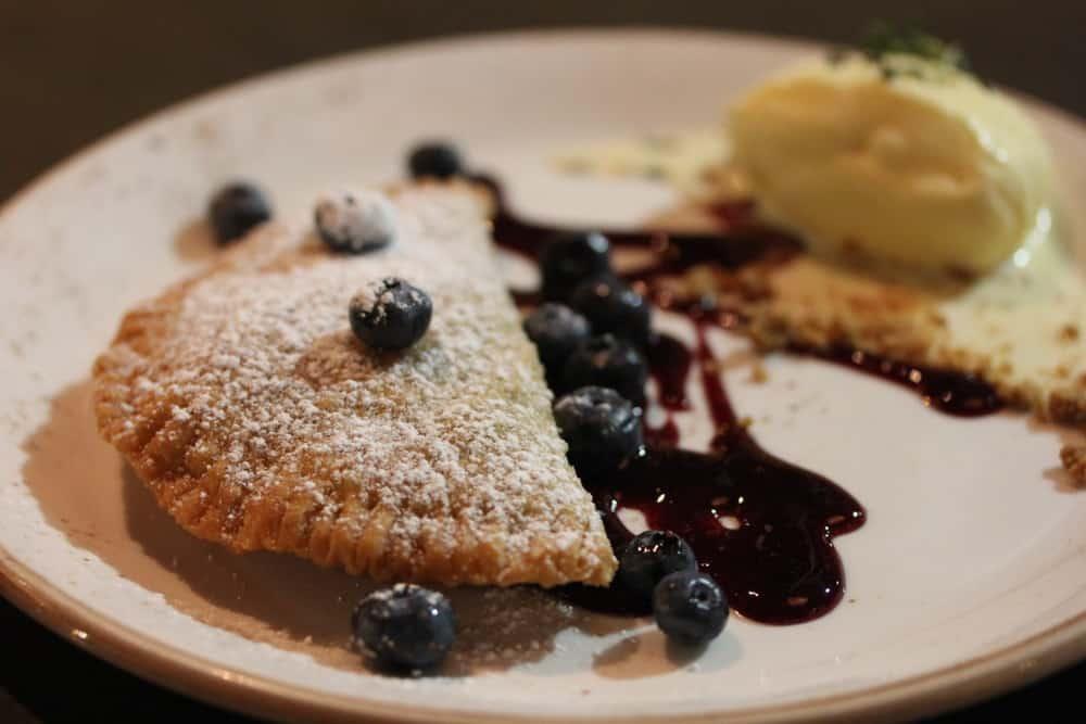 Seasonal Fruit Pan Pie with Blueberries and Lemon-Thyme Ice Cream