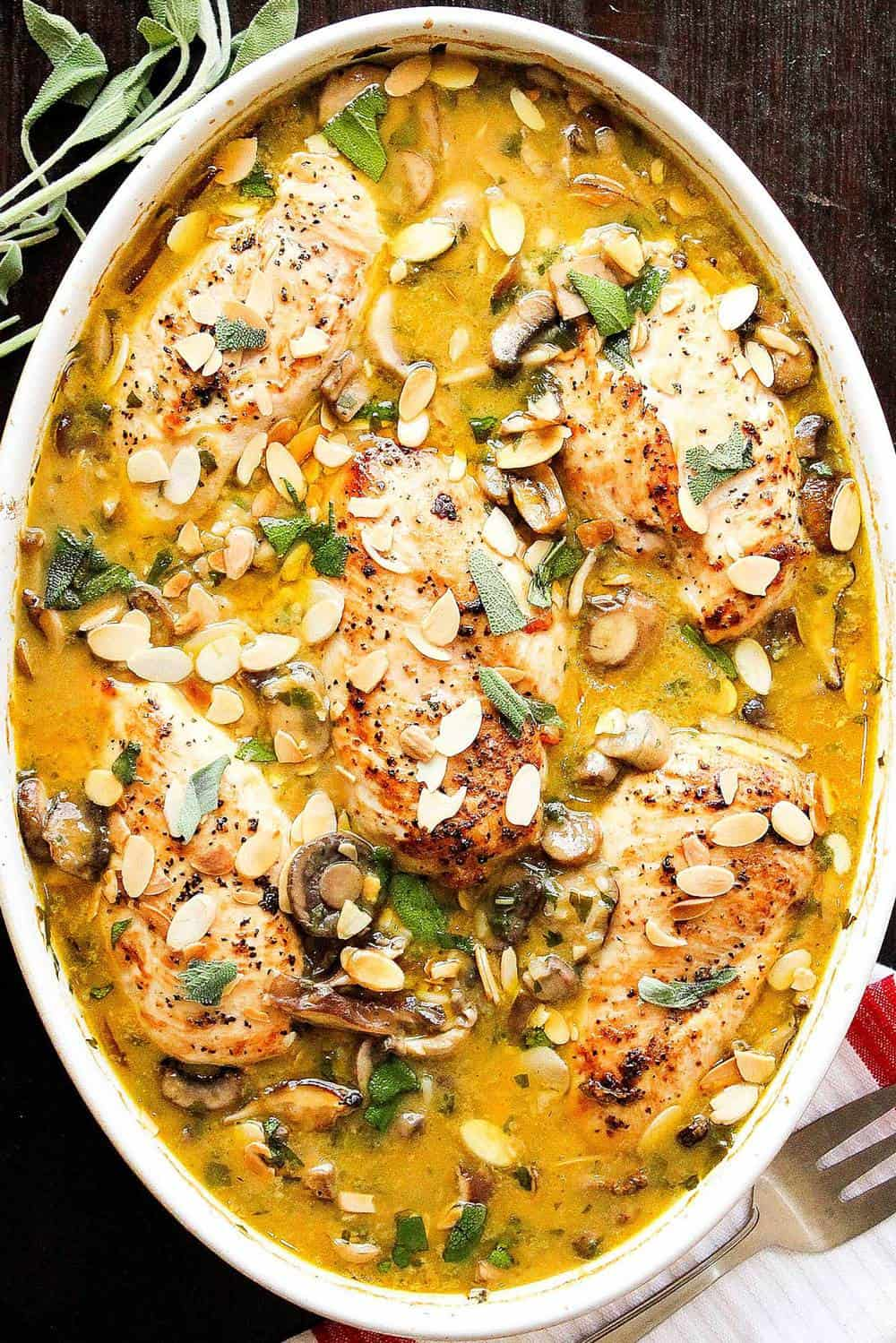Chicken, Mushroom and Sage Casserole
