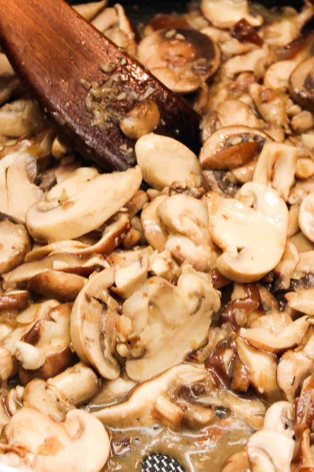 Sautéed mushrooms for chicken, mushrooms and sage casserole