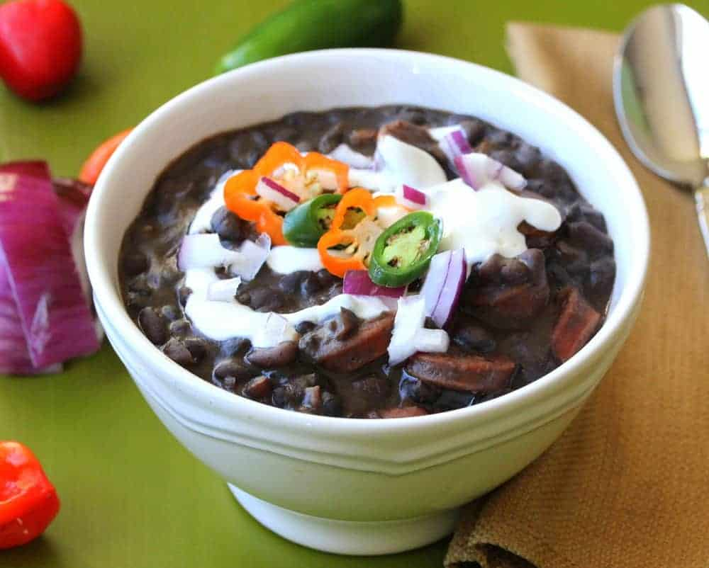 Black Bean with Andouille Sausage Soup