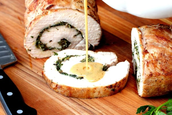 Herb-Stuffed Pork Loin