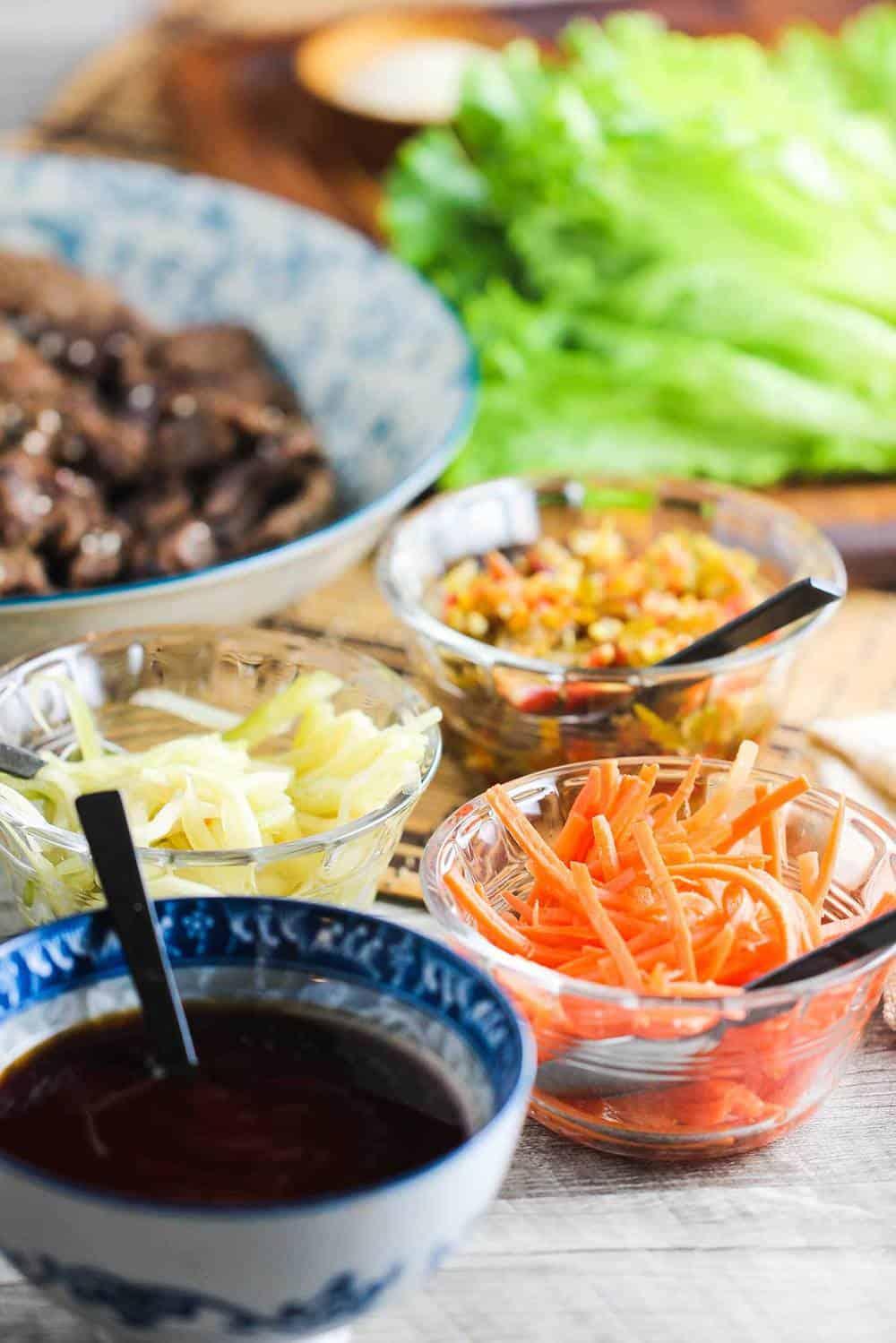 Korean Beef (Bulgogi) Lettuce Wraps recipe