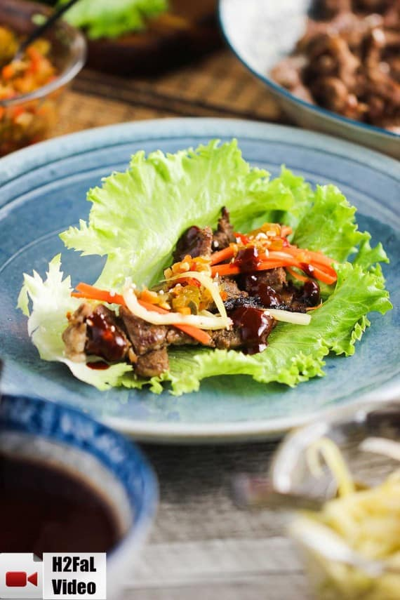 Korean Beef (Bulgogi) Lettuce Wraps recipe