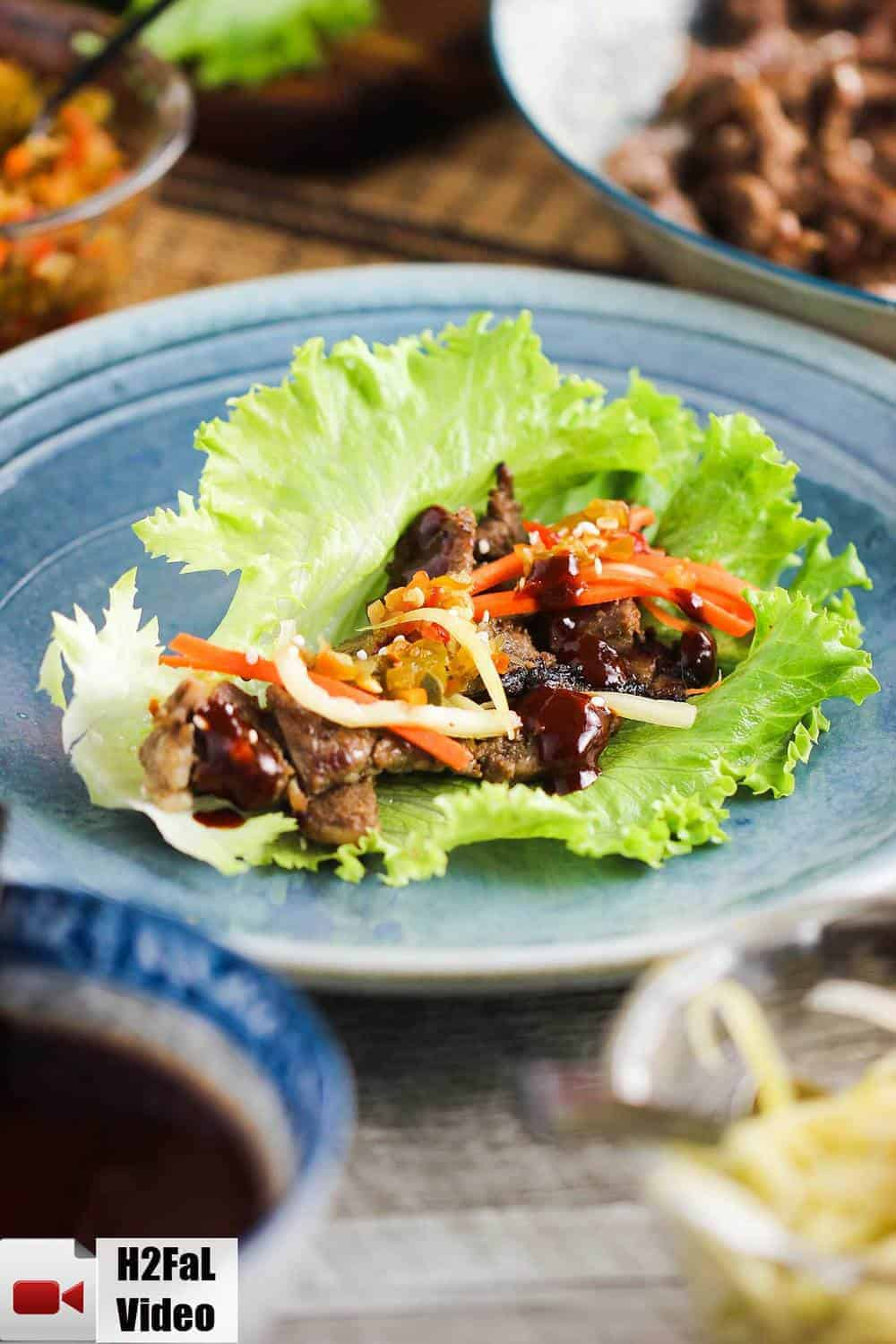 Korean beef bulgogi lettuce wraps how to feed a loon korean beef bulgogi lettuce wraps recipe forumfinder