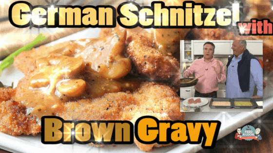 How to Make German Schnitzel with Mushroom Gravy