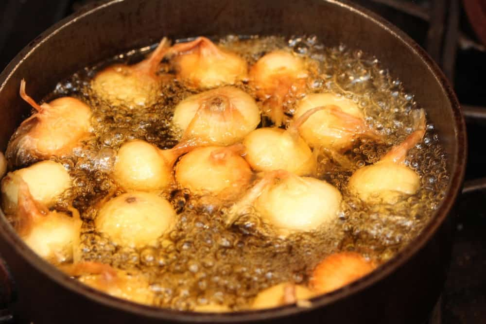 Boil onions for 3 minutes