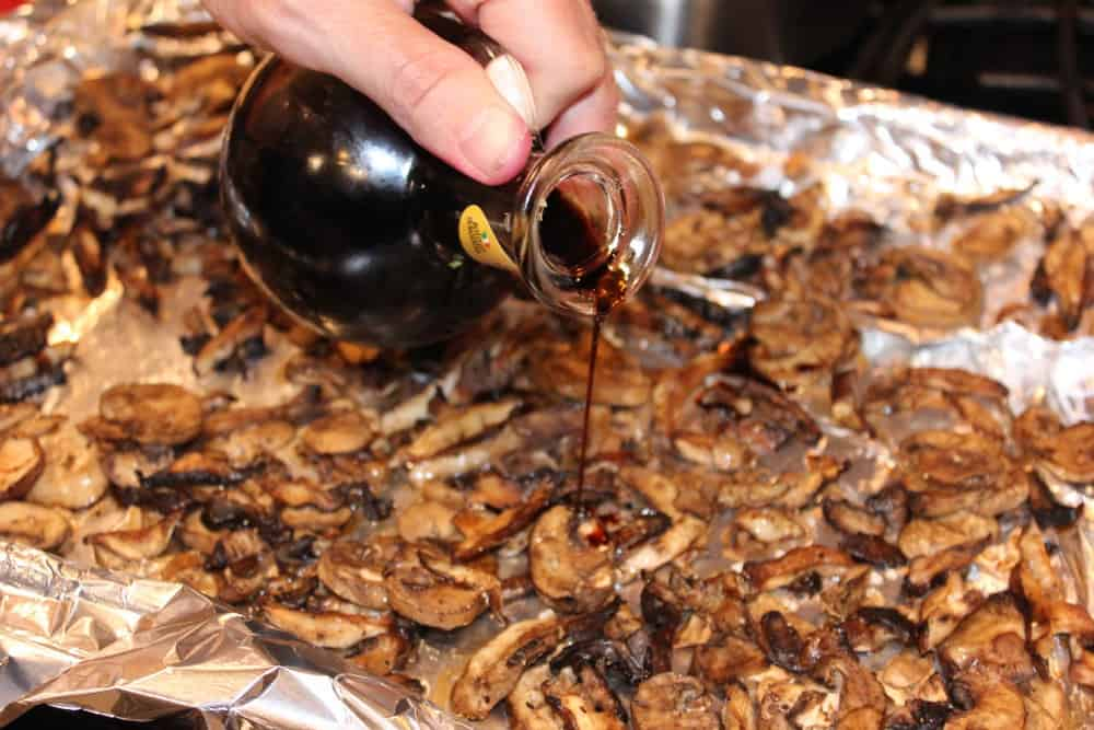 Roasted mushrooms with aged balsamic...yes!