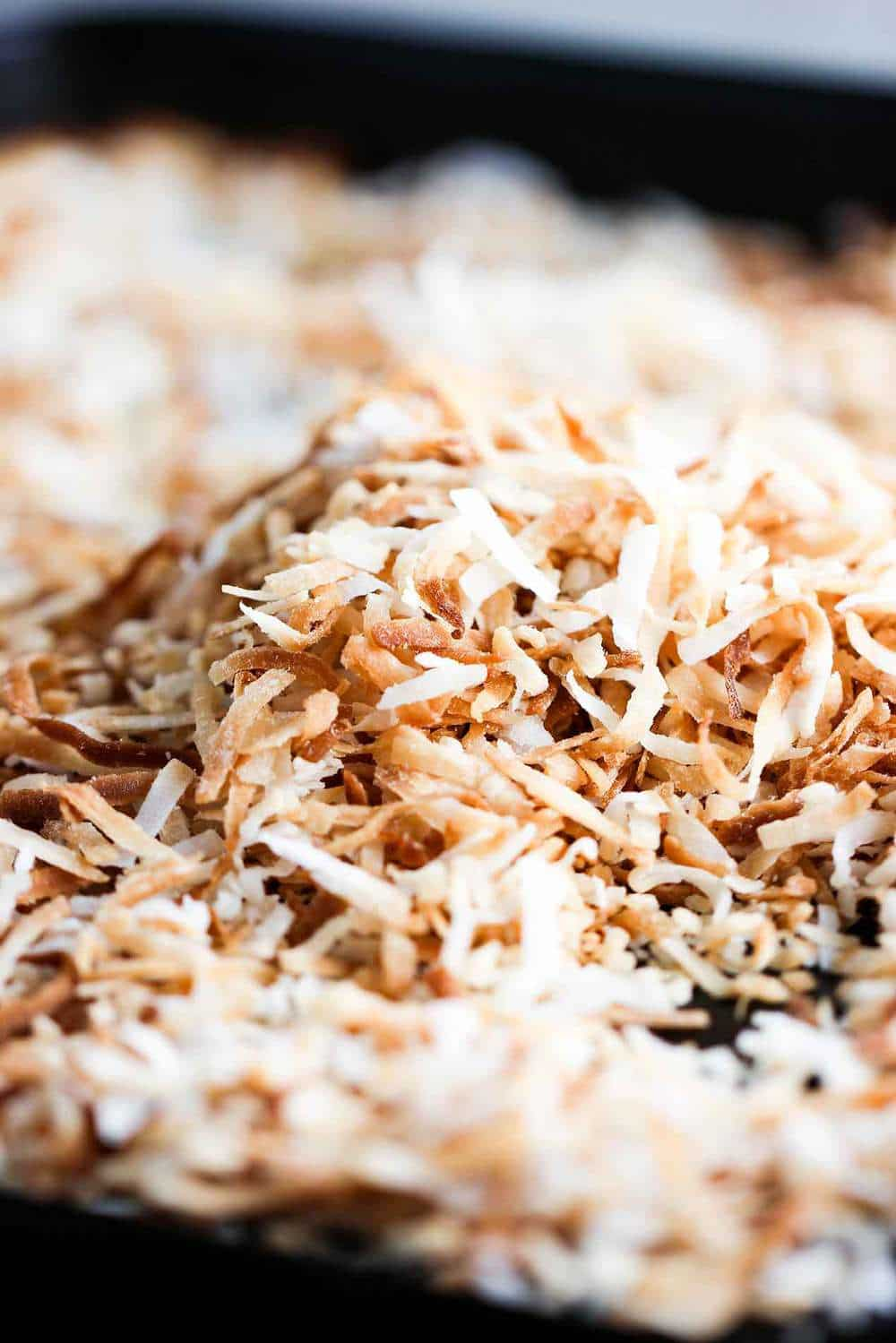 Toasted coconut for summer fruit salad