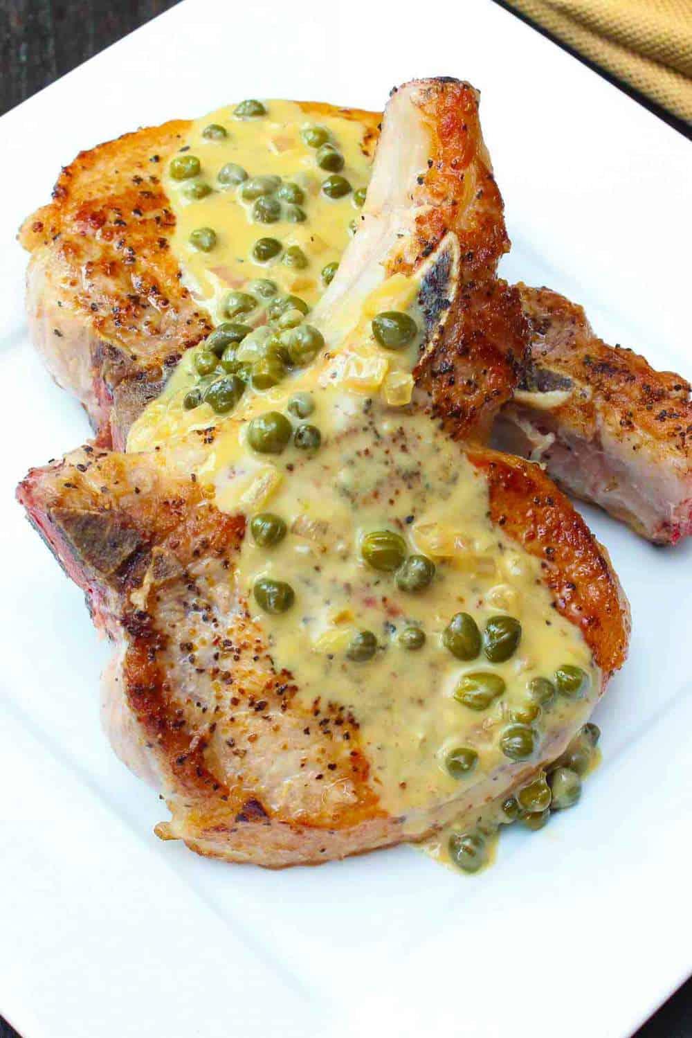 seared-pork-chop-in caper sauce recipe
