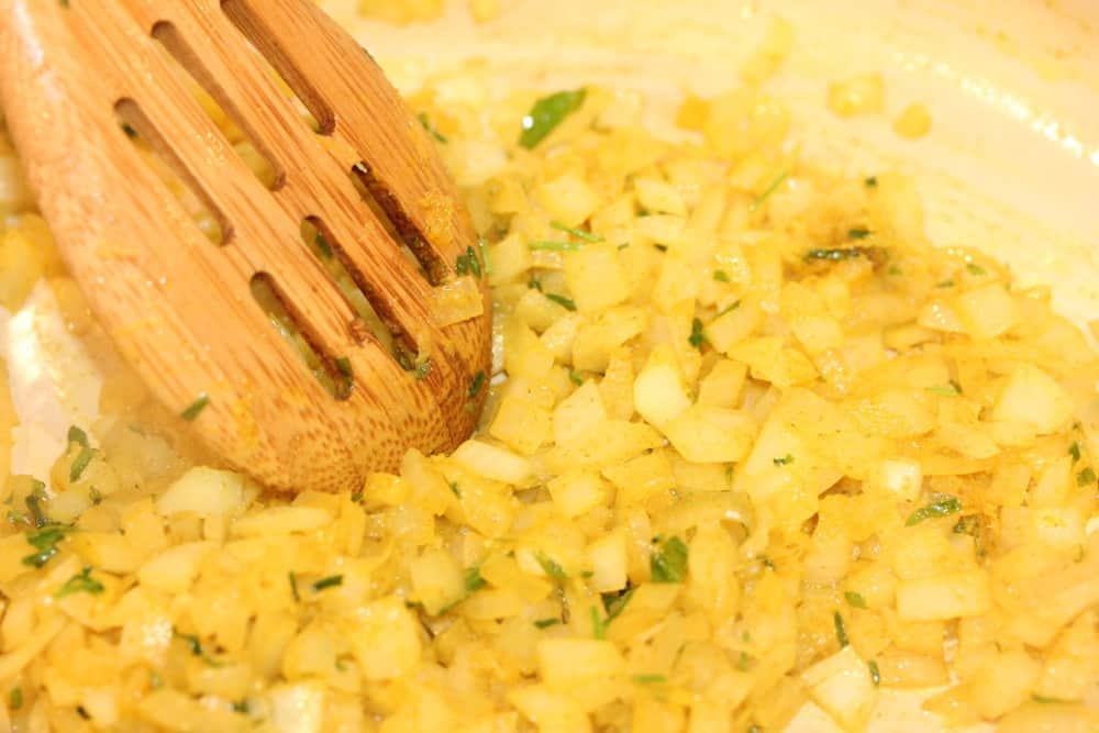 Onions, tarragon and turmeric are perfect together