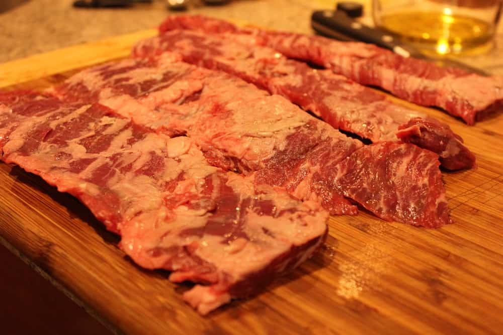 It all starts with beautiful skirt steak