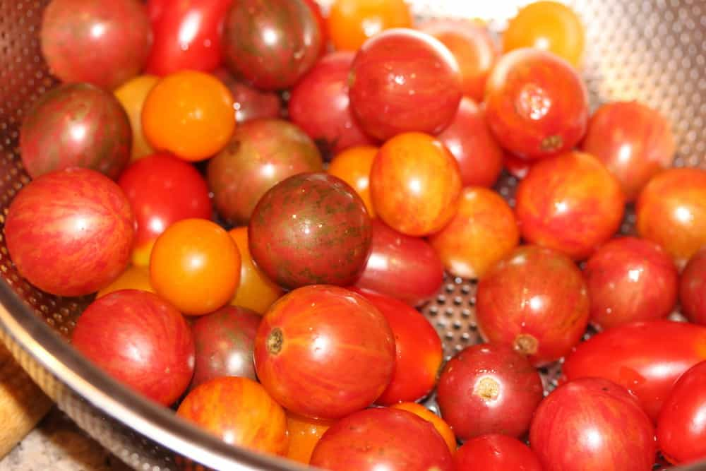 Beautiful grape or cherry tomatoes are the best!