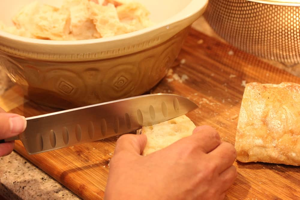 Start with some good country Italian bread.