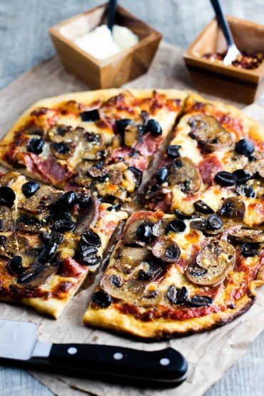 soppressata, mushroom and black olive recipe