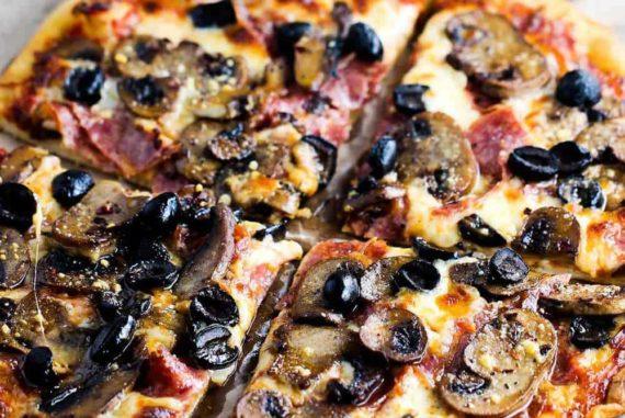 soppressata, mushroom and black olive recipe