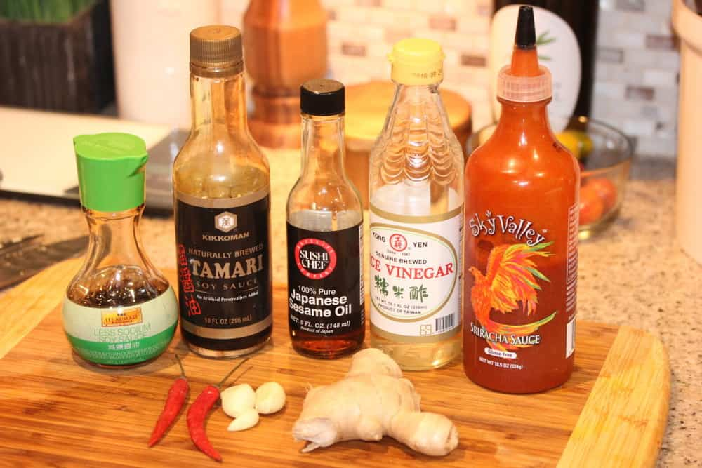 Ginger-Soy Sauce Ingredients