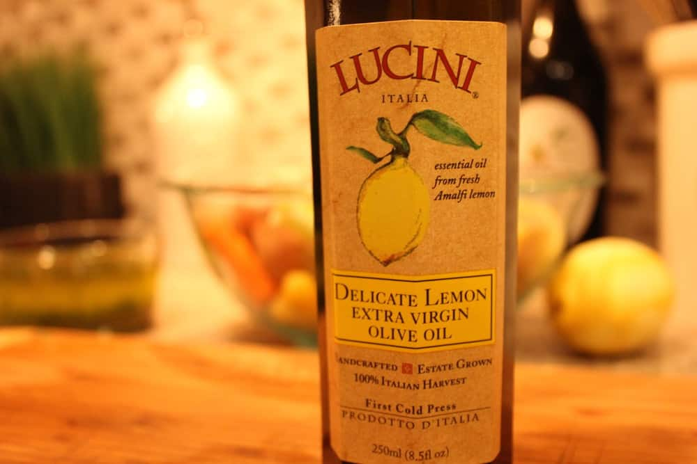 Lemon-infused olive oil!