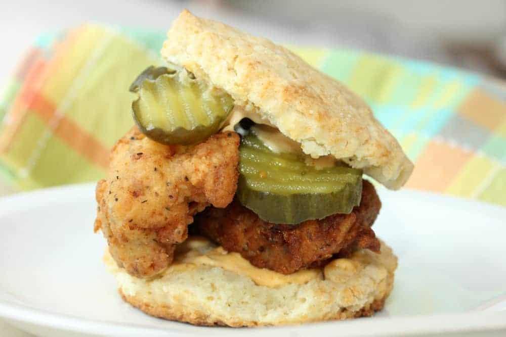 Fried Chicken and Buttermilk Biscuit Sandwiches