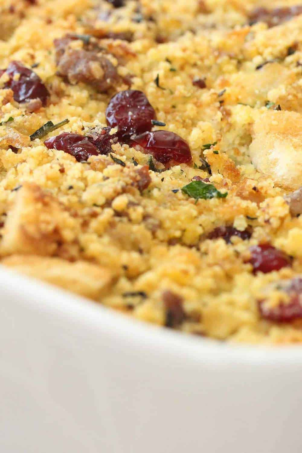 cornbread, sausage, cranberry dressing recipe