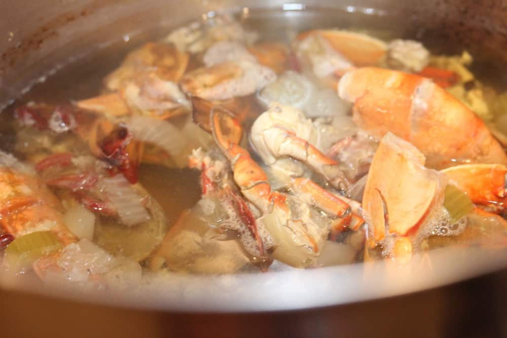 Bring to a boil and then simmer for 1 hour