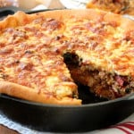 Deep Dish Italian Sausage and Broccoli Rabe Pizza