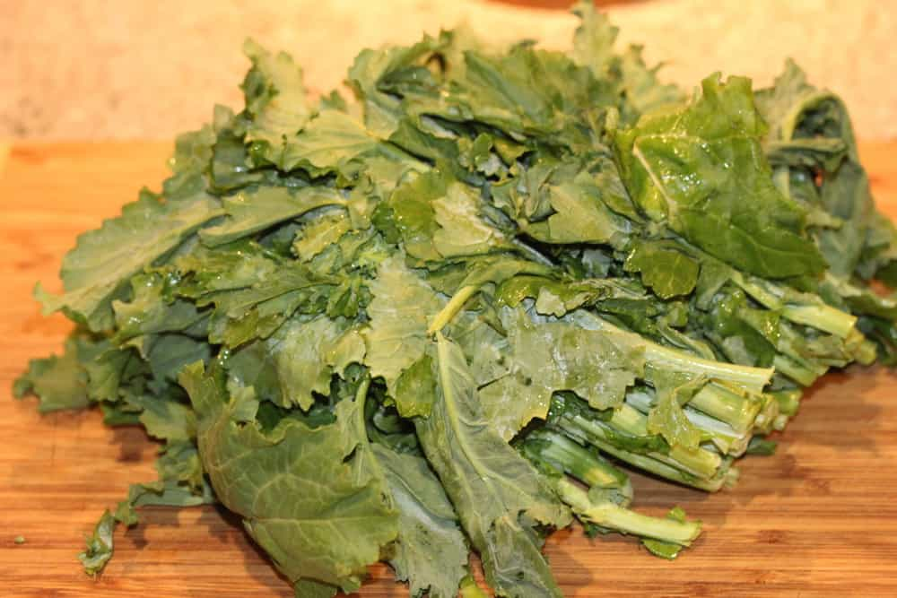 Broccoli rabe gives an amazing depth of flavor