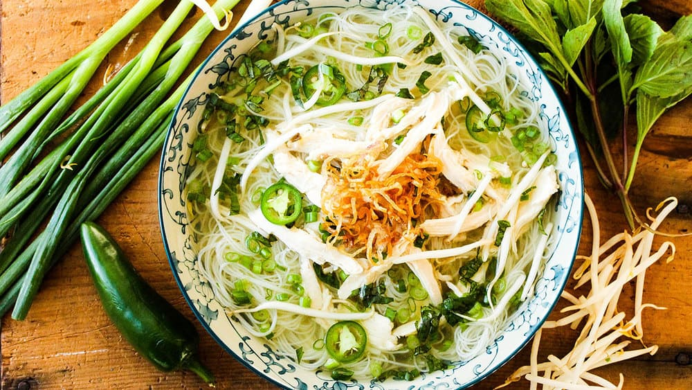 Bowl of Vietnamese Chicken Pho