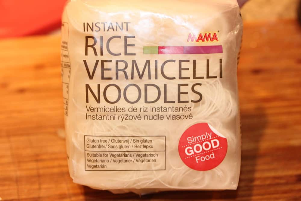 Vermicelli noodles are easy to find in supermarkets, or Asian markets