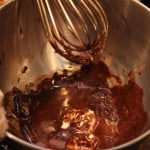 Melt chocolate and butter in double-boiler or over in a bowl over simmering water