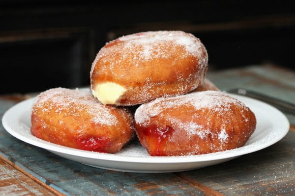 Jelly and Custard Doughnuts