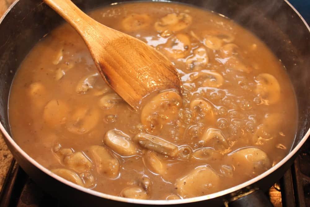 Why not make an amazing mushroom gravy, too!