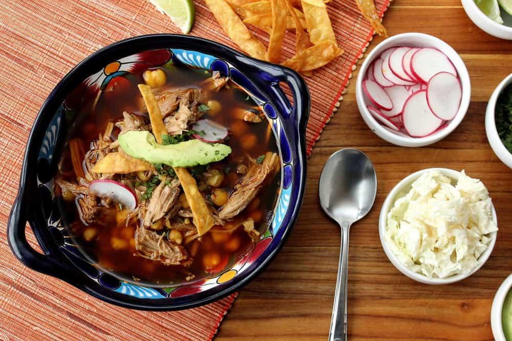 Pozole Rojo (Pork and Hominy Stew)