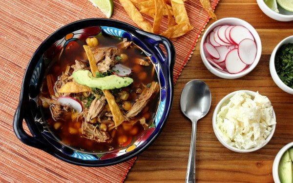 Pozole Rojo (Pork and Hominy Stew)