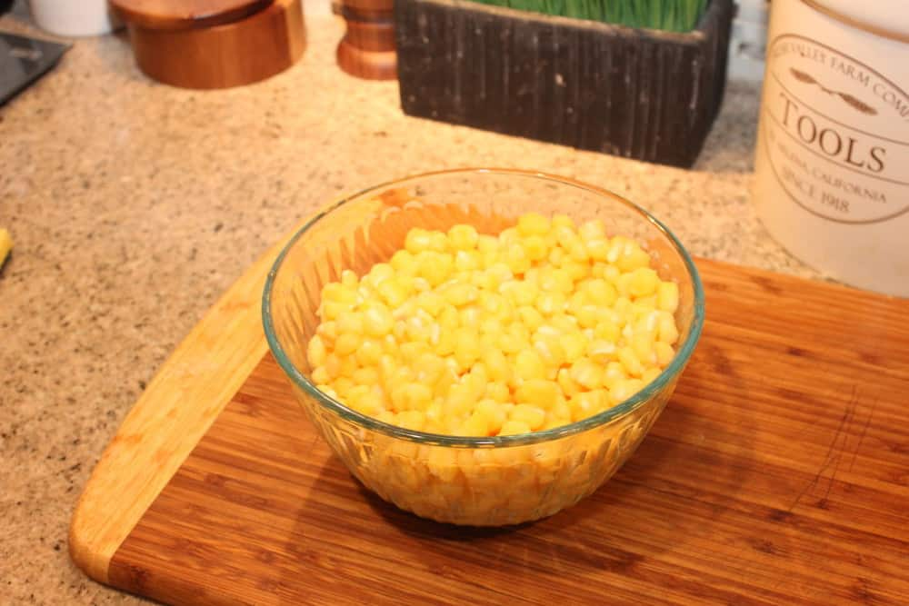 Canned, drained hominy works just fine!