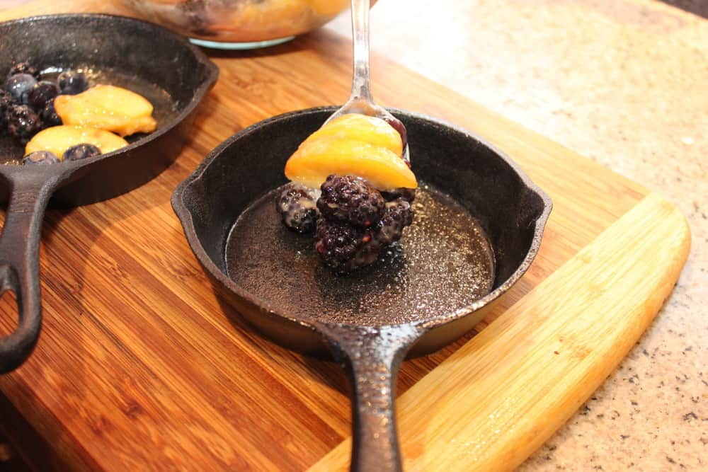 We just love our mini cast iron skillets for individual servings!