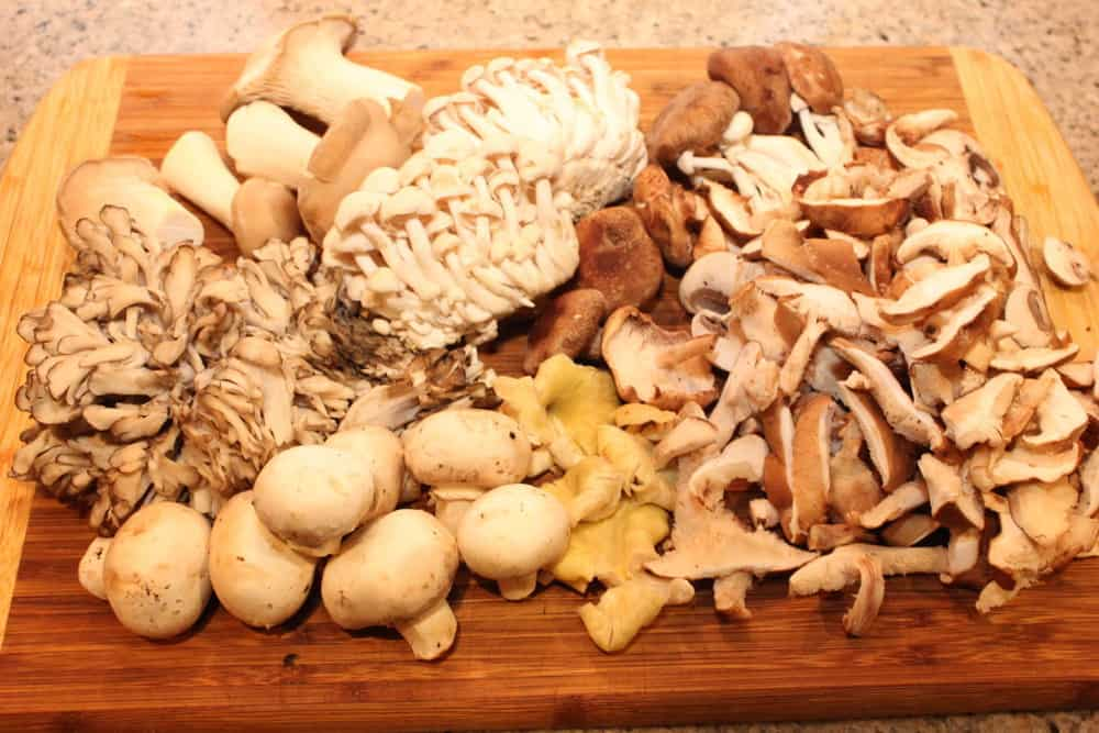 Shiitake, Crimini, Portabella, Maitake, Beech, Royal, Trumpet are great together