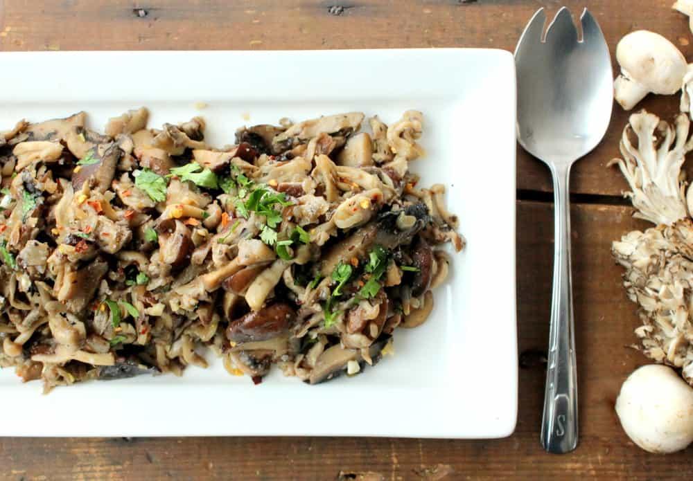 Wild Mushrooms with Shallots and Garlic