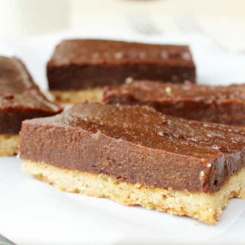 Chocolate and Caramel Shortbread Bars