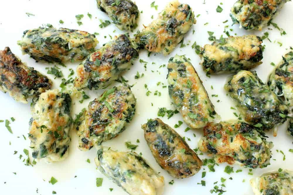 Crab and Spinach Dumplings