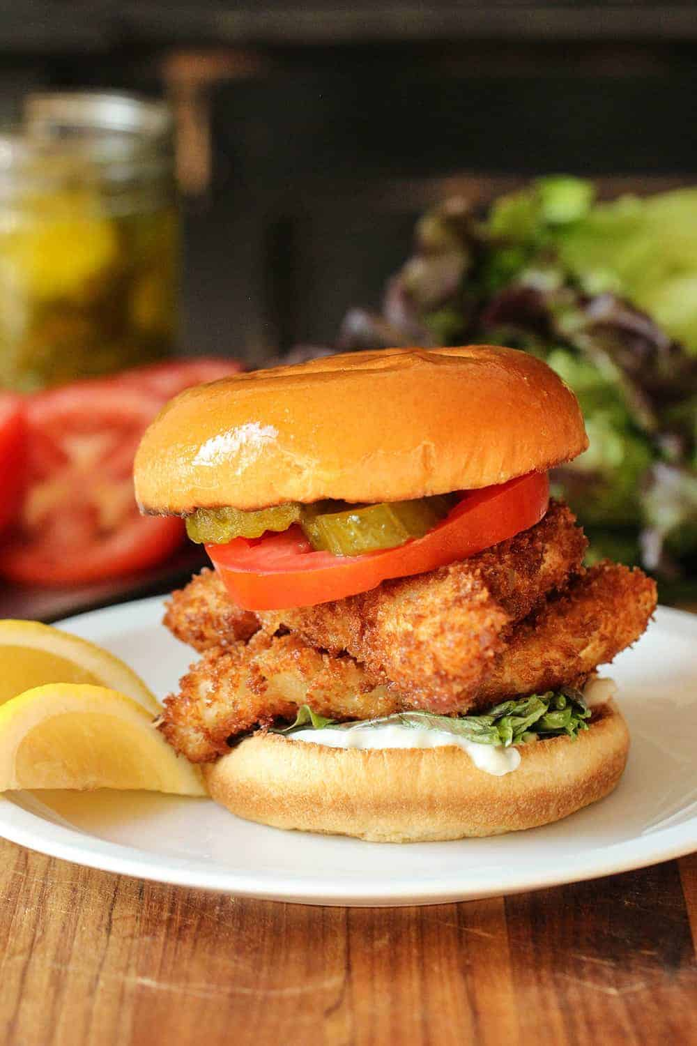 Fantastic fried fish sandwich how to feed a loon for Fish fry paris tx