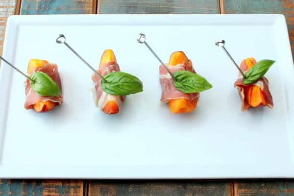 Summer Marinated Peaches with Prosciutto