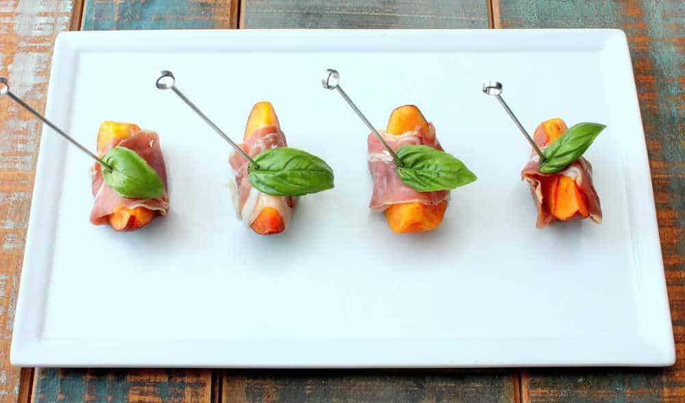 Summer Marinated Peaches with Prosciutto