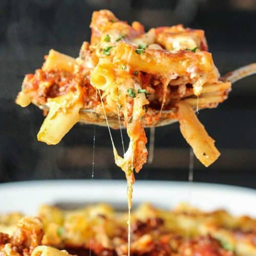 A spoonful of Best-Ever Baked Ziti