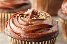Chocolate Fudge Cupcakes with Marshmallow Filling