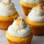 Coconut and Lemon Curd Cupcakes