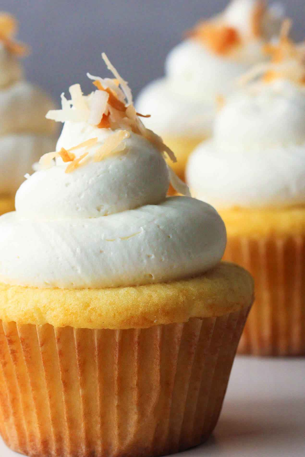 coconut-lemon curd cupcakes recipe