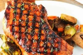 Balsamic Grilled Pork Chop recipe
